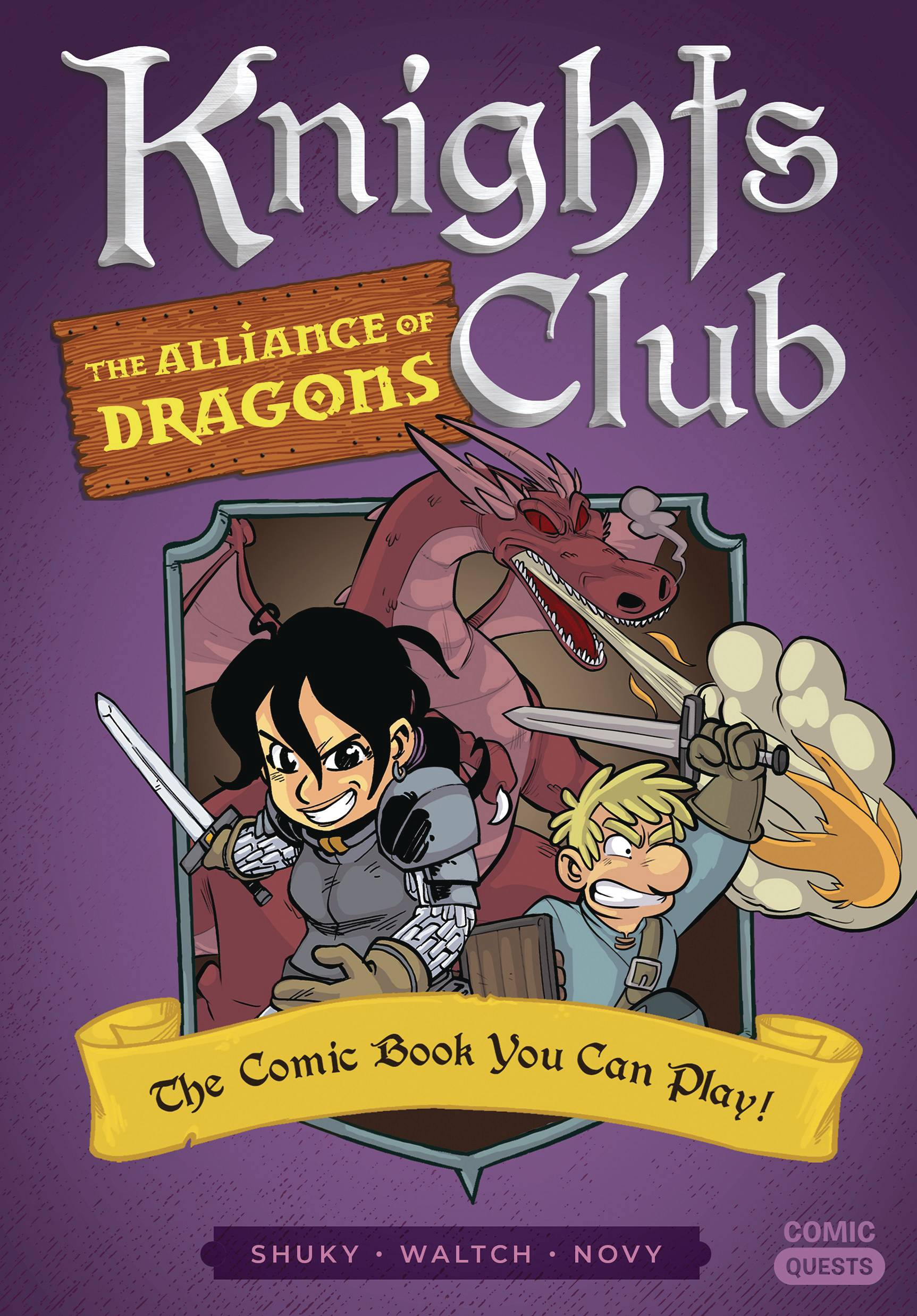 COMIC QUESTS KNIGHTS CLUB ALLIANCE OF DRAGONS