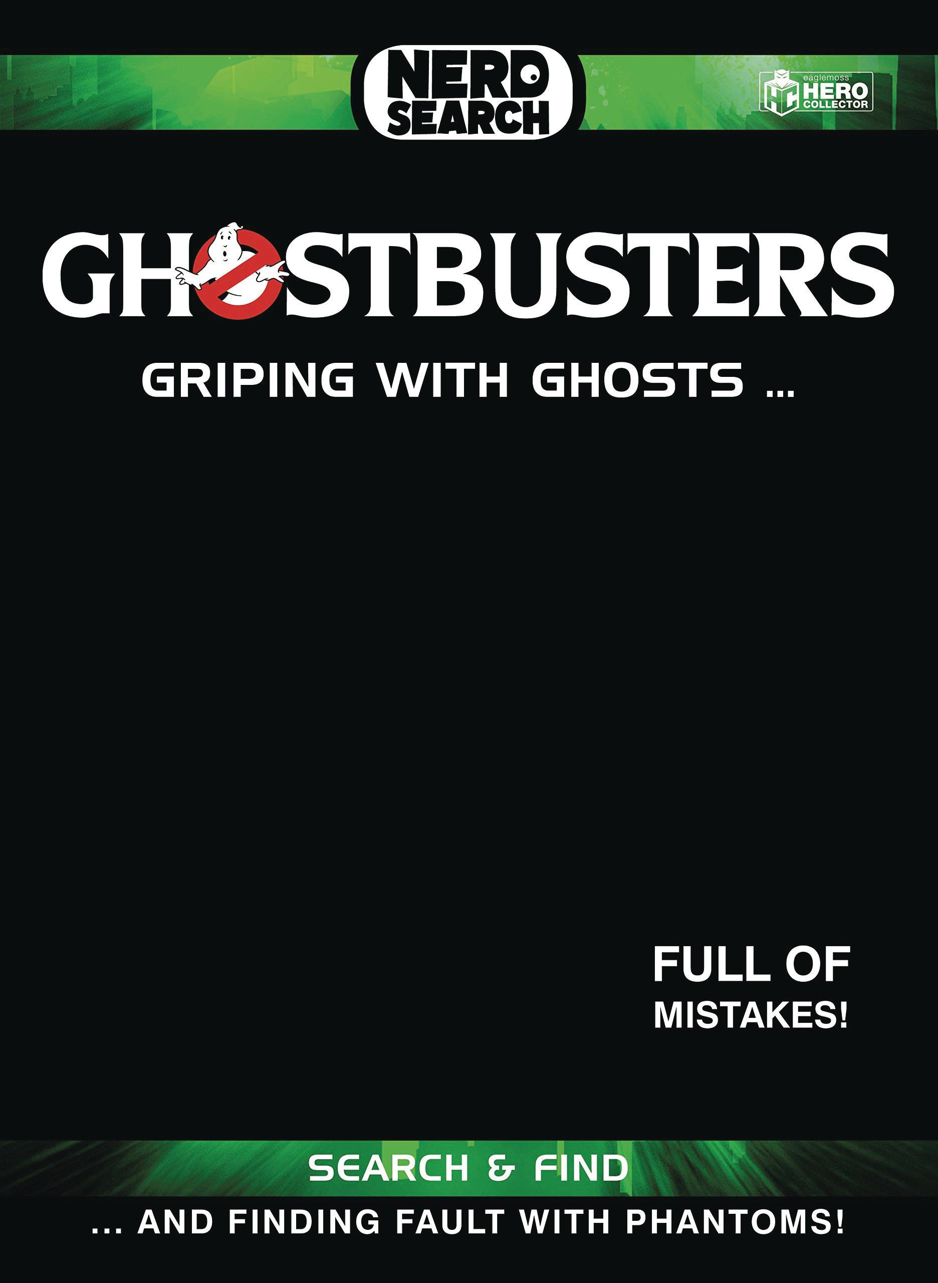 GHOSTBUSTERS NERD SEARCH HC GRIPING WITH GHOSTS