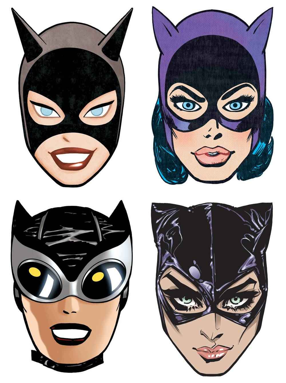 CATWOMAN 80TH ANNIVERSARY PAPER MASKS (BND OF 25) (Net)