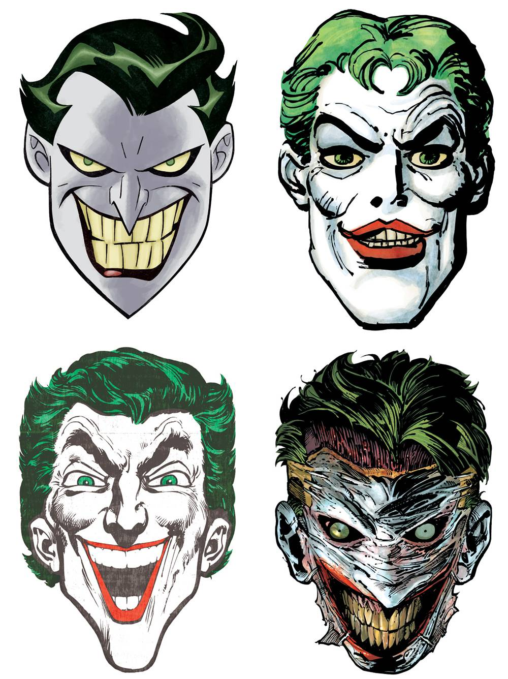 JOKER 80TH ANNIVERSARY PAPER MASKS (BND OF 24) (Net)