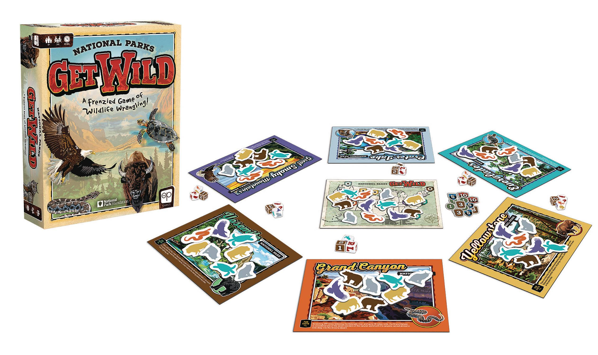 NATIONAL PARKS GET WILD BOARDGAME