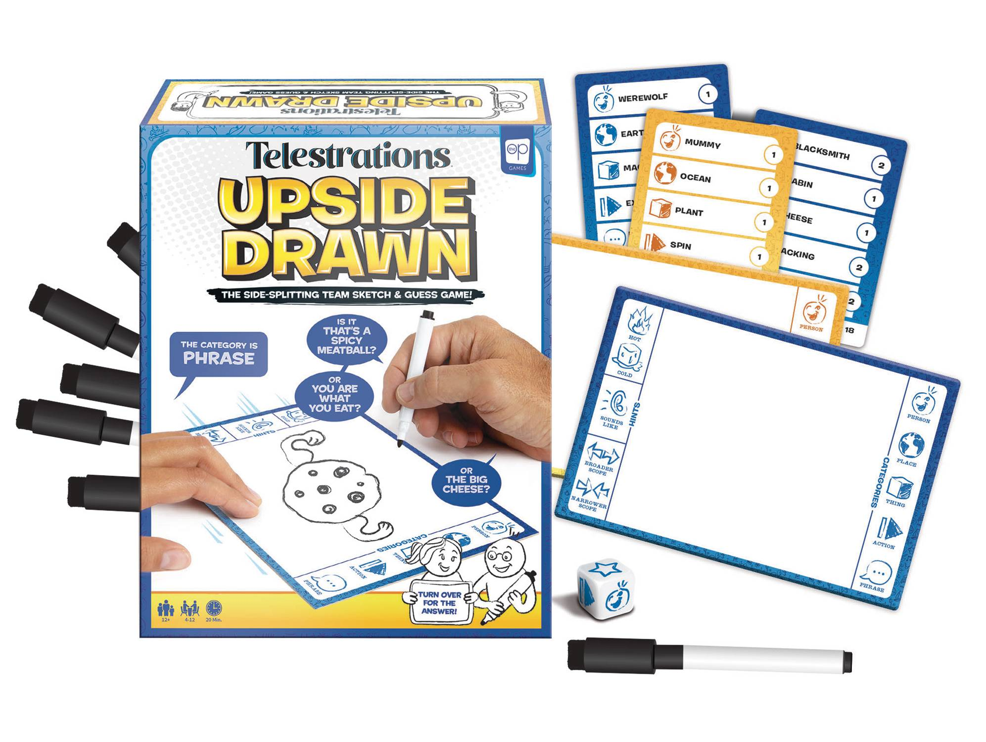 TELESTRATIONS UPSIDE DRAWN BOARDGAME