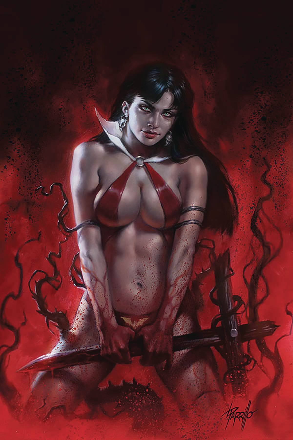 VENGEANCE OF VAMPIRELLA #9 PARRILLO LTD VIRGIN CVR