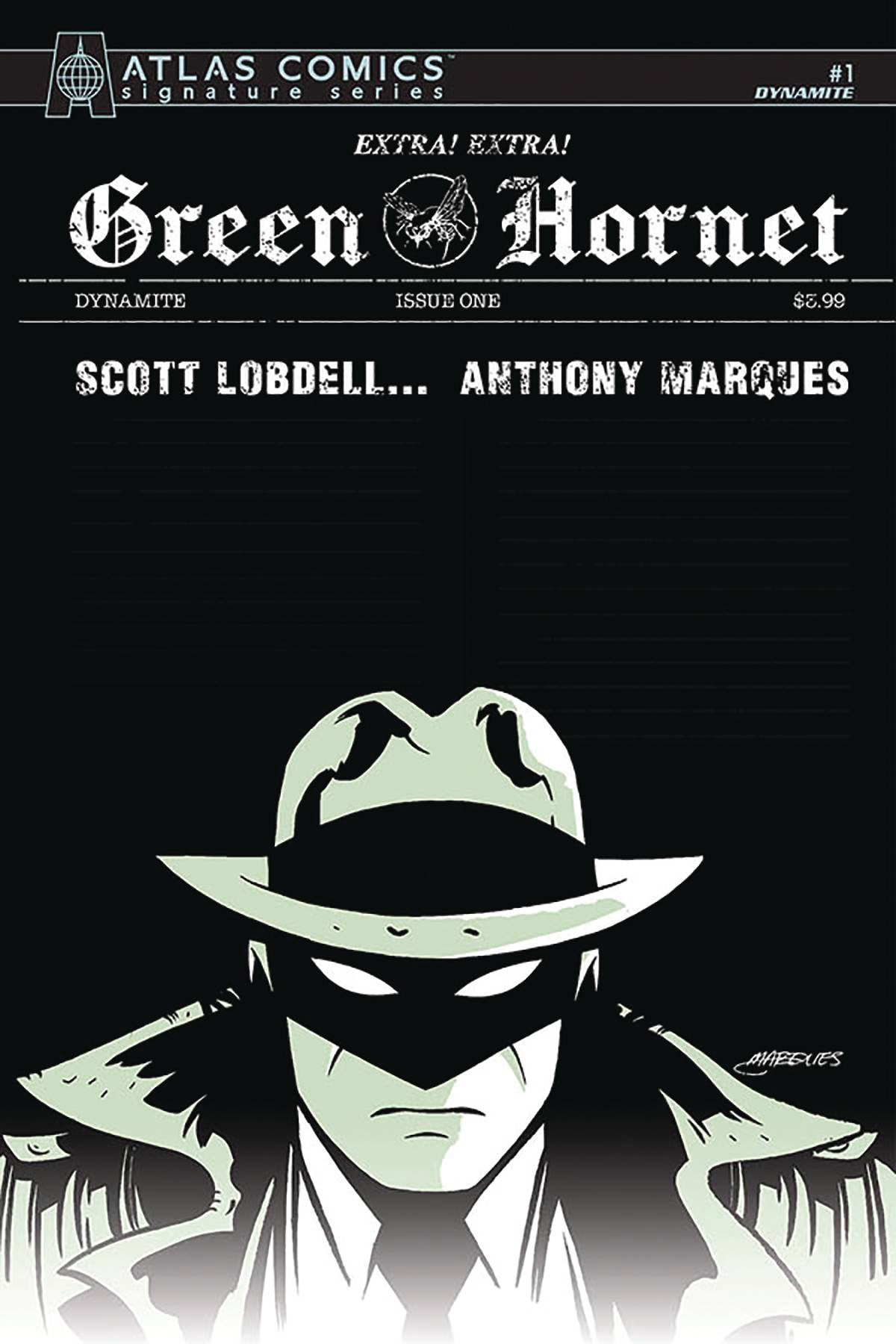 GREEN HORNET #1 MARQUES SGN ATLAS ED