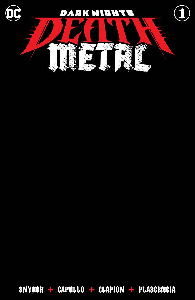 DARK NIGHTS DEATH METAL #1 (OF 6) BLACK BLANK VAR ED