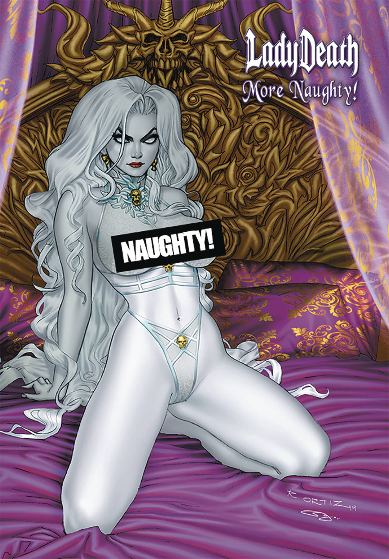 LADY DEATH MORE NAUGHTY ARTBOOK HC (MR)