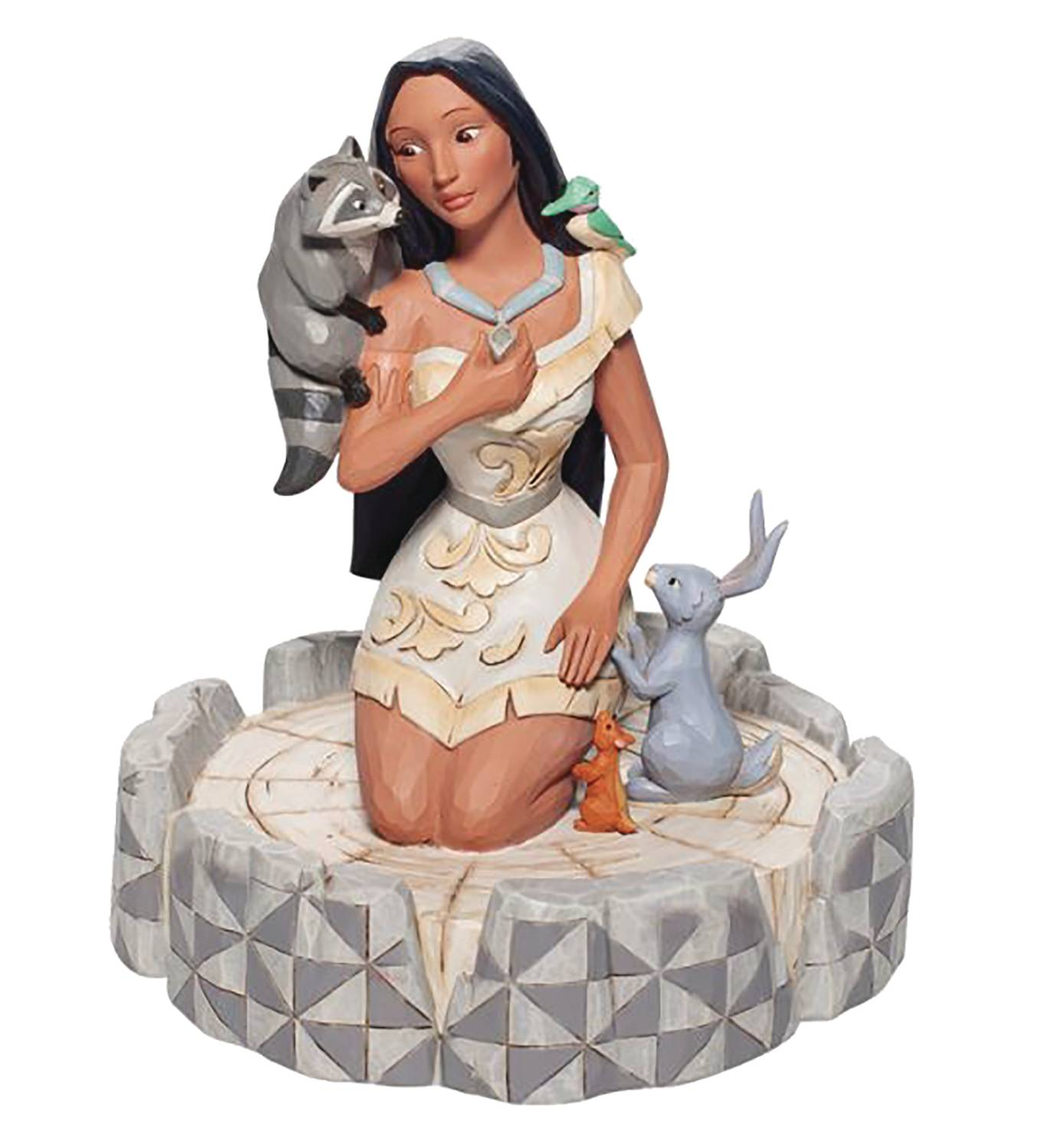 DISNEY TRADITIONS POCAHONTAS WHITE WOODLANDS 7.3IN FIG