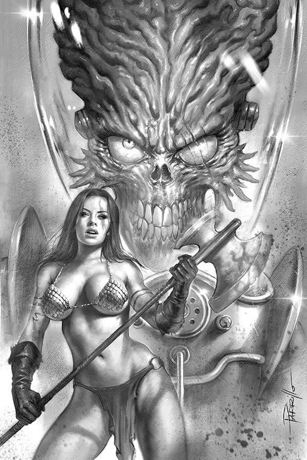 MARS ATTACKS RED SONJA #1 30 COPY PARRILLO B&W VIRGIN INCV