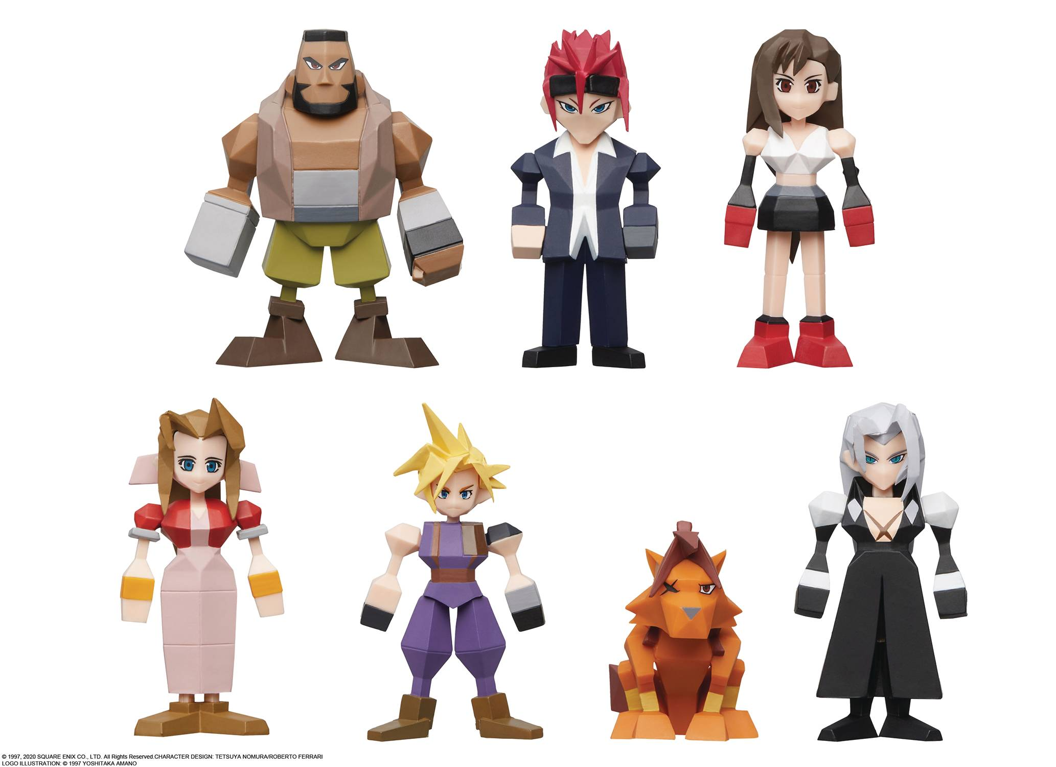 FINAL FANTASY VII POLYGON PVC FIGURE 8PC BMB DS