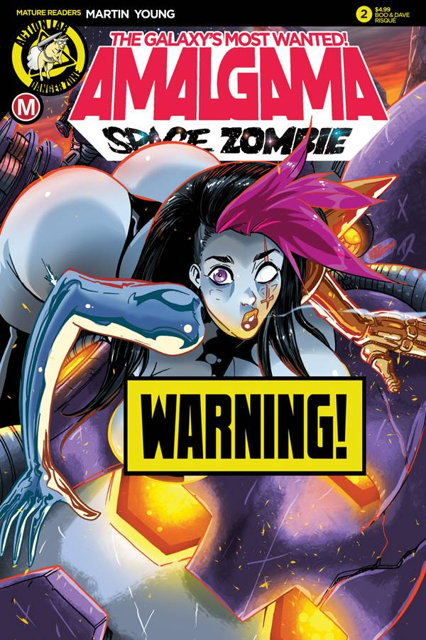 AMALGAMA SPACE ZOMBIE MOST WANTED #2 CVR D RUDETOONS RISQUE