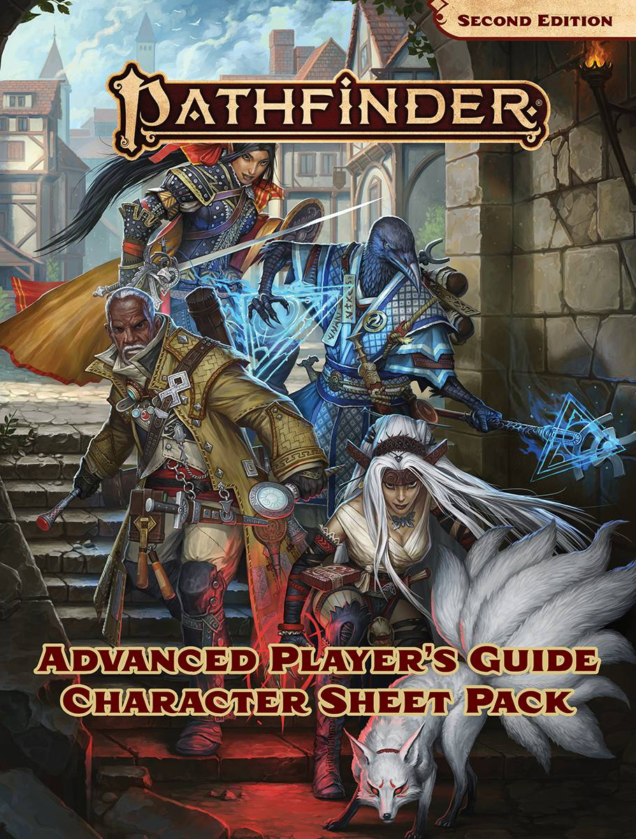 PATHFINDER RPG ADVANCED PLAYERS GUIDE CHAR SHEET PACK (P2) (