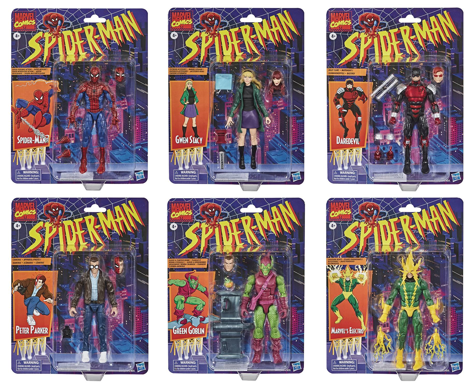SPIDER-MAN VINTAGE 6IN AF ASST 202001  (FEB209316)