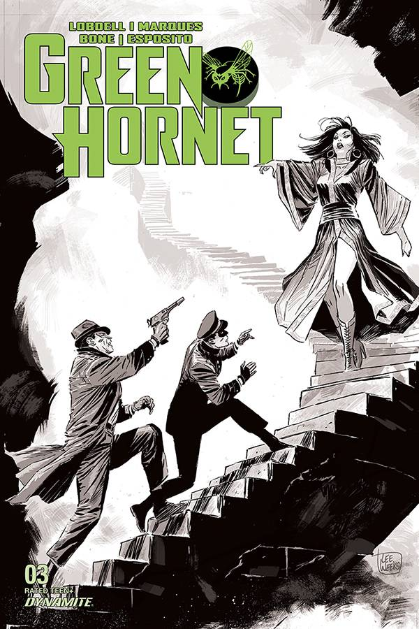 GREEN HORNET #3 20 COPY WEEKS B&W INCV