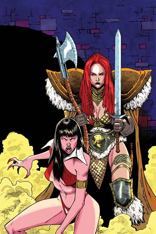 VAMPIRELLA RED SONJA #11 PEEPLES LTD VIRGIN HOMAGE CVR