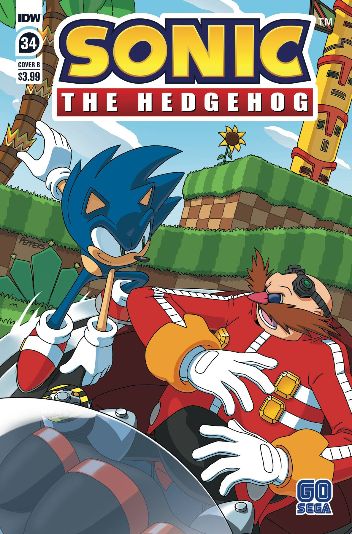 Aug200562 Sonic The Hedgehog 34 Cvr B Peppers Previews World