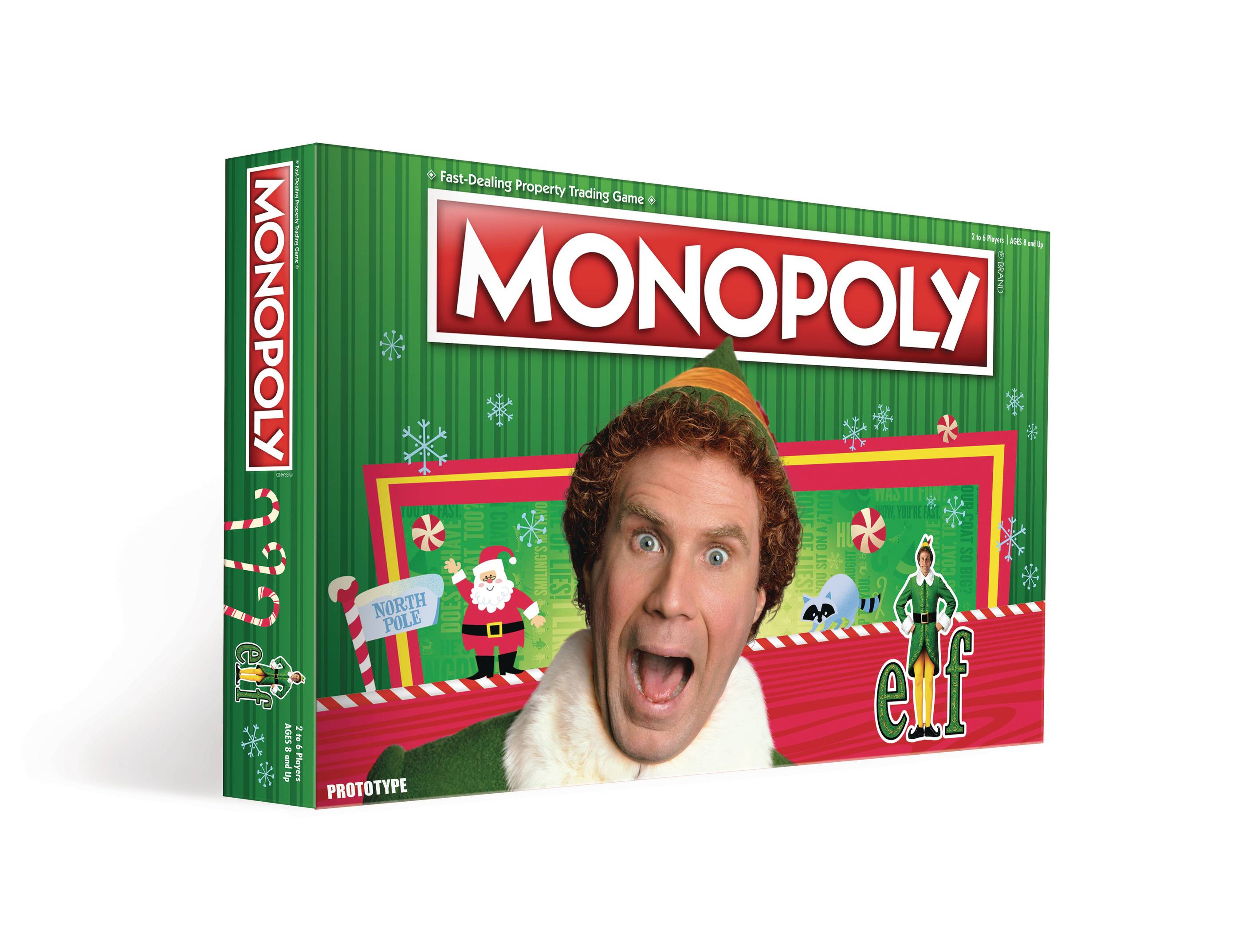 MONOPOLY ELF BOARD GAME