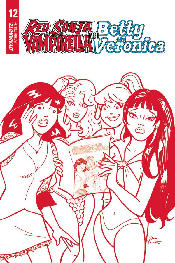RED SONJA VAMPIRELLA BETTY VERONICA #12 15 COPY PARENT RED T