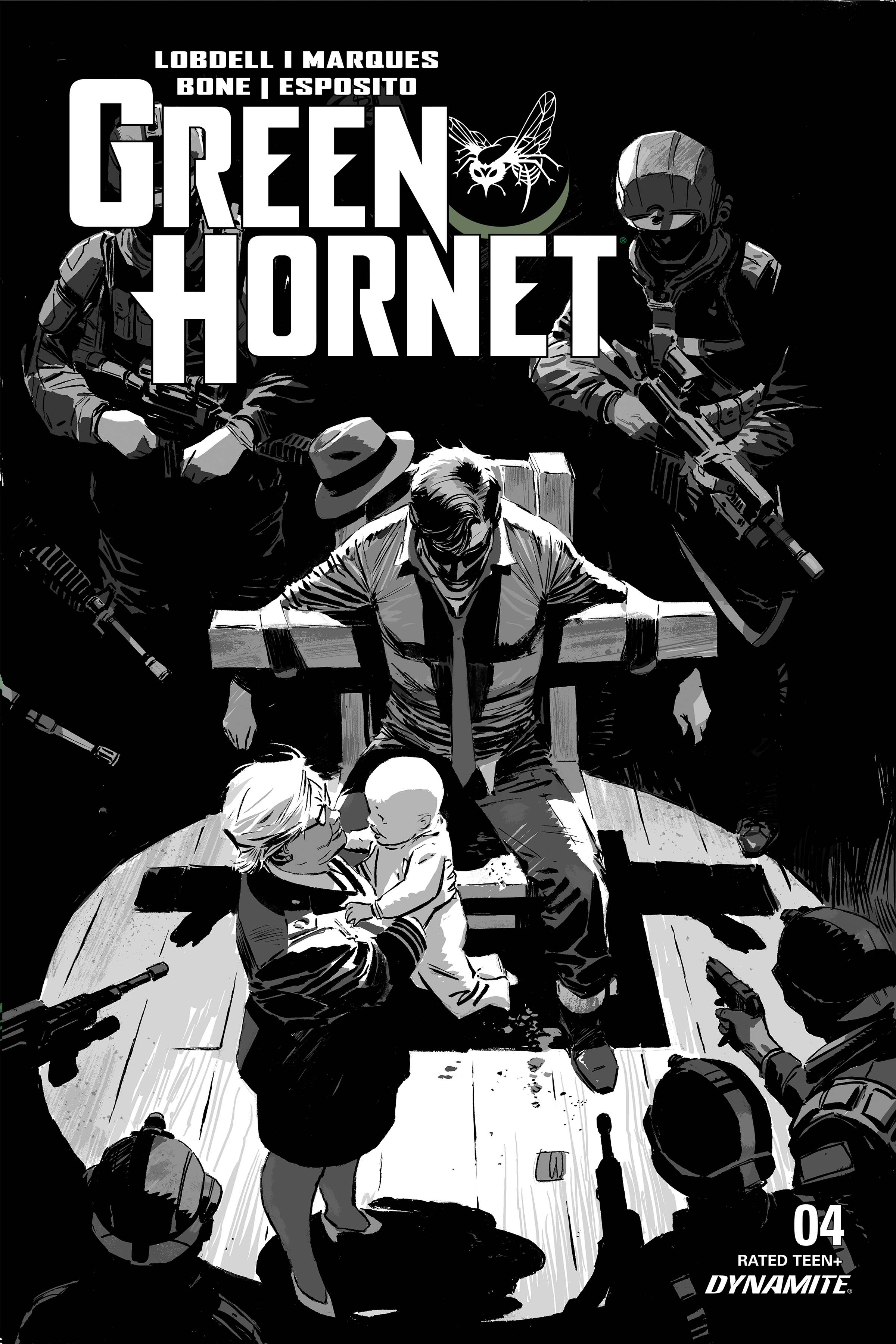 GREEN HORNET #4 20 COPY WEEKS B&W INCV
