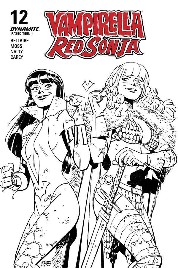 VAMPIRELLA RED SONJA #12 40 COPY ROMERO & BELLAIRE B&W INCV