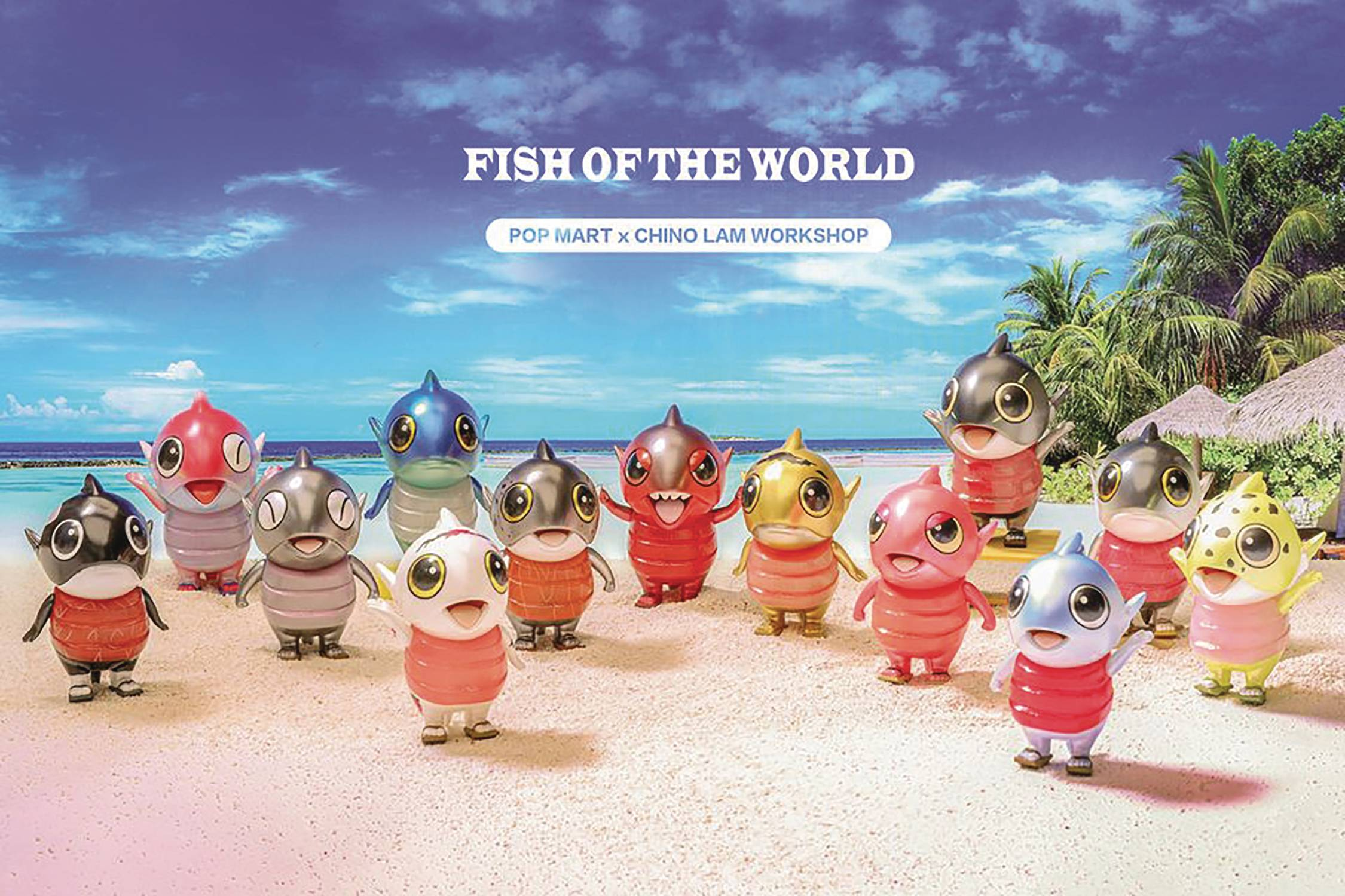 POPMART CHINO LAM FISH OF THE WORLD 12PC FIG BMB DS