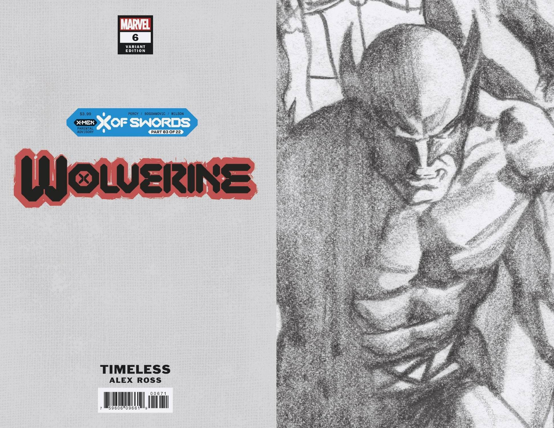 WOLVERINE #6 ALEX ROSS WOLVERINE TIMELESS VIRGIN SKETCH VAR