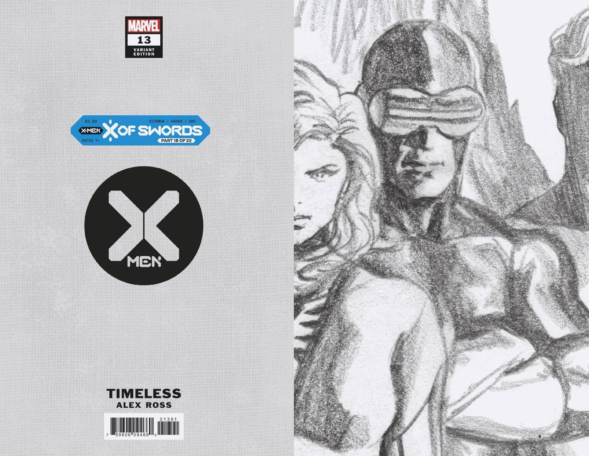 X-MEN #13 ALEX ROSS CYCLOPS TIMELESS VIRGIN SKETCH VAR XOS