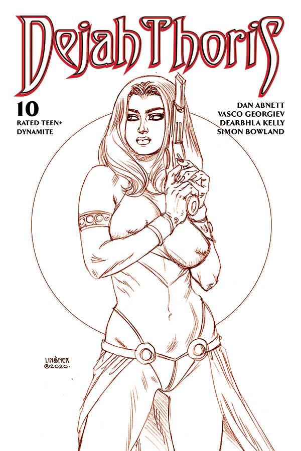 DEJAH THORIS (2019) #10 LINSNER RARE LTD MARTIAN RED CVR