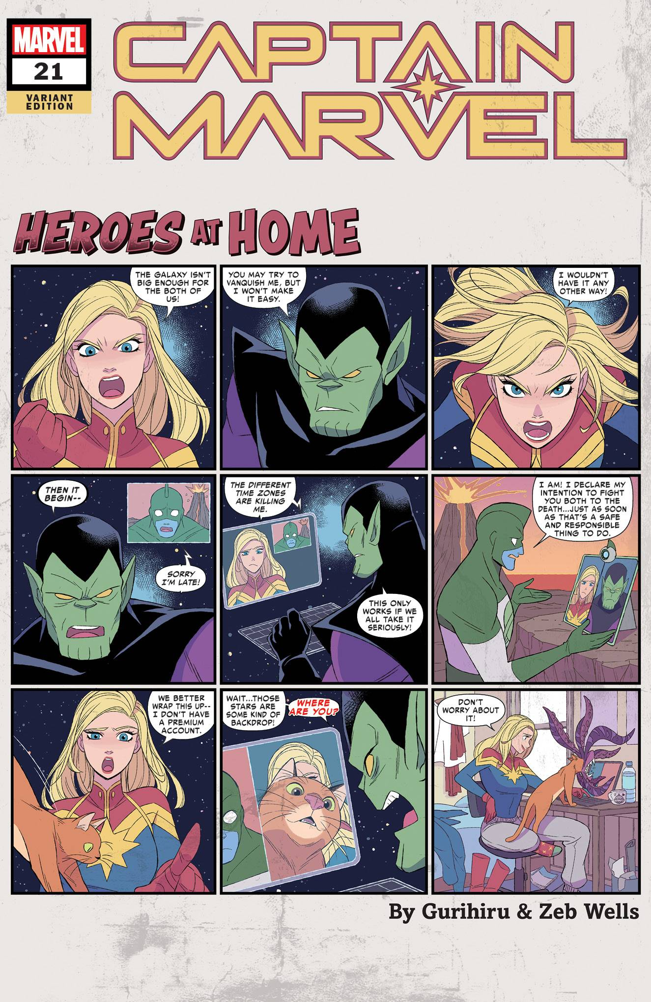 CAPTAIN MARVEL #21 GURIHIRU HEROES AT HOME VAR