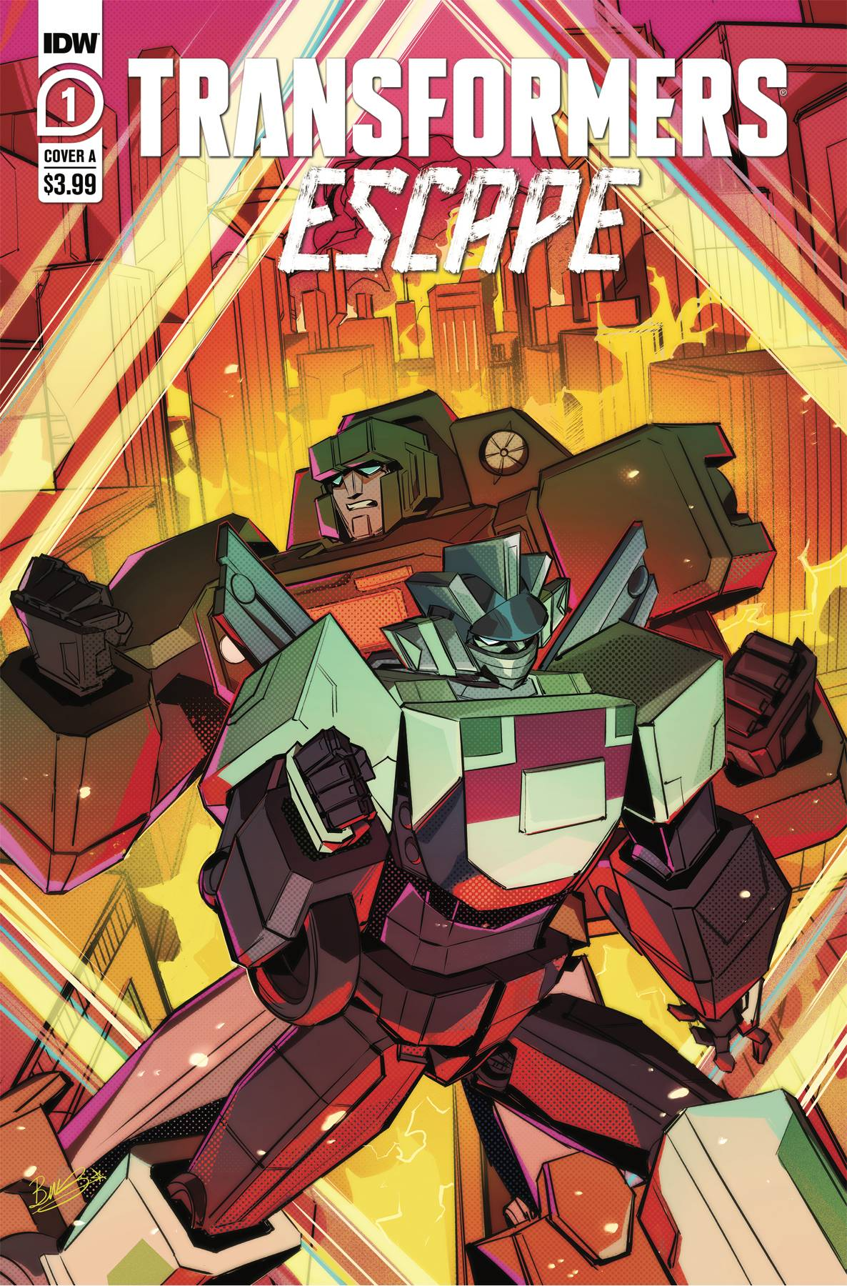 TRANSFORMERS ESCAPE #1 (OF 5) CVR A MCGUIRE-SMITH