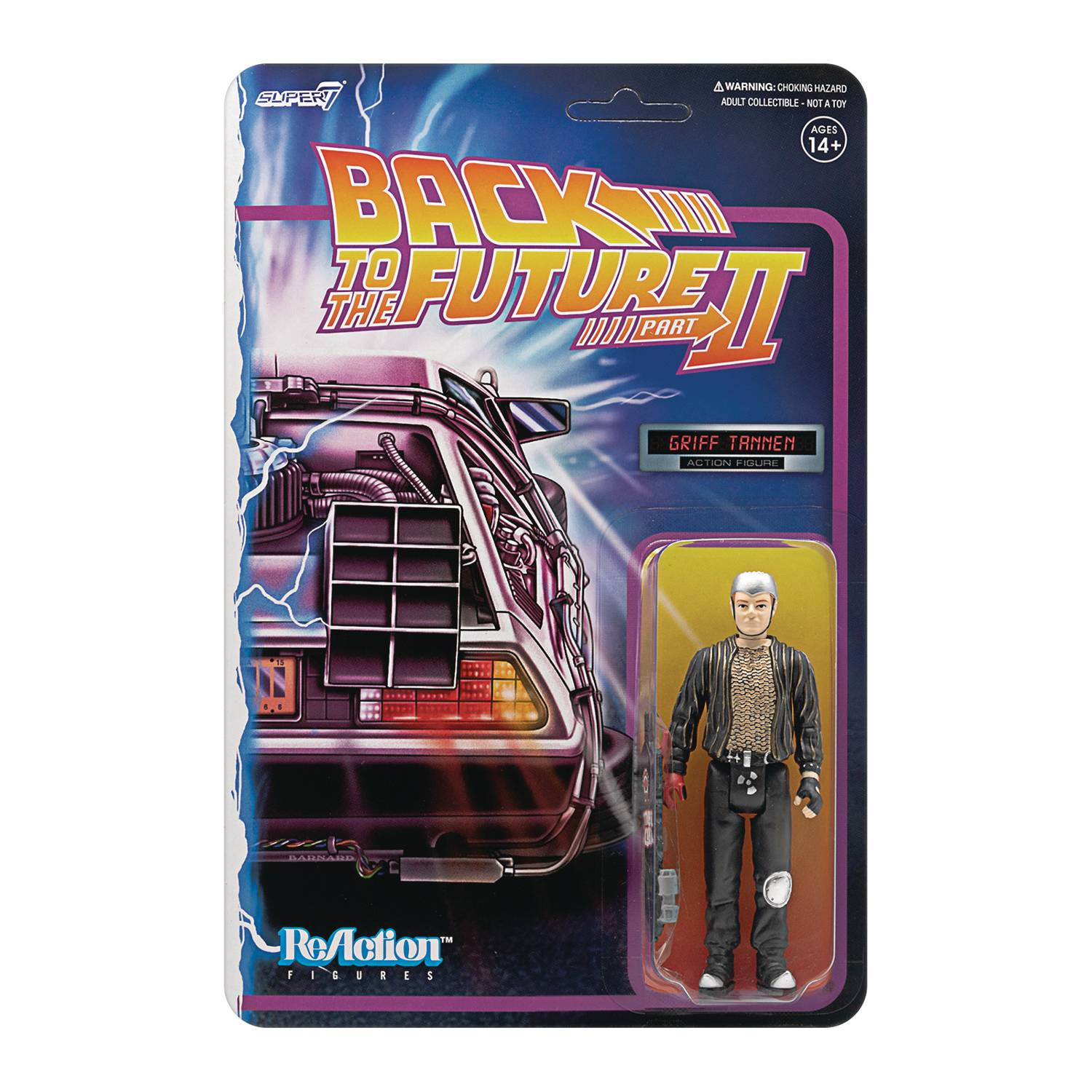 BACK TO THE FUTURE 2 GRIFF TANNEN REACTION FIGURE