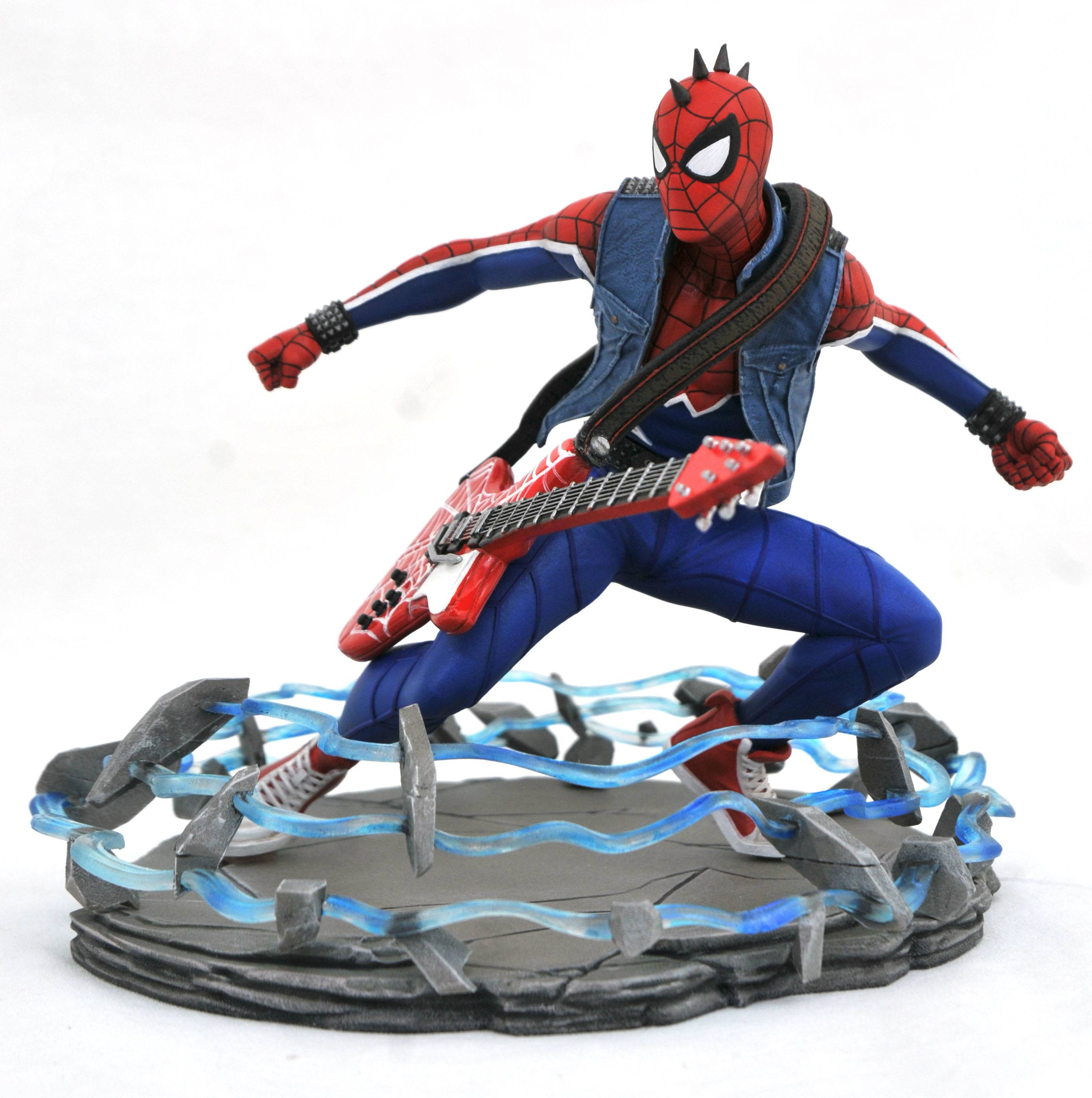 MARVEL GALLERY PS4 SPIDER-PUNK PVC STATUE