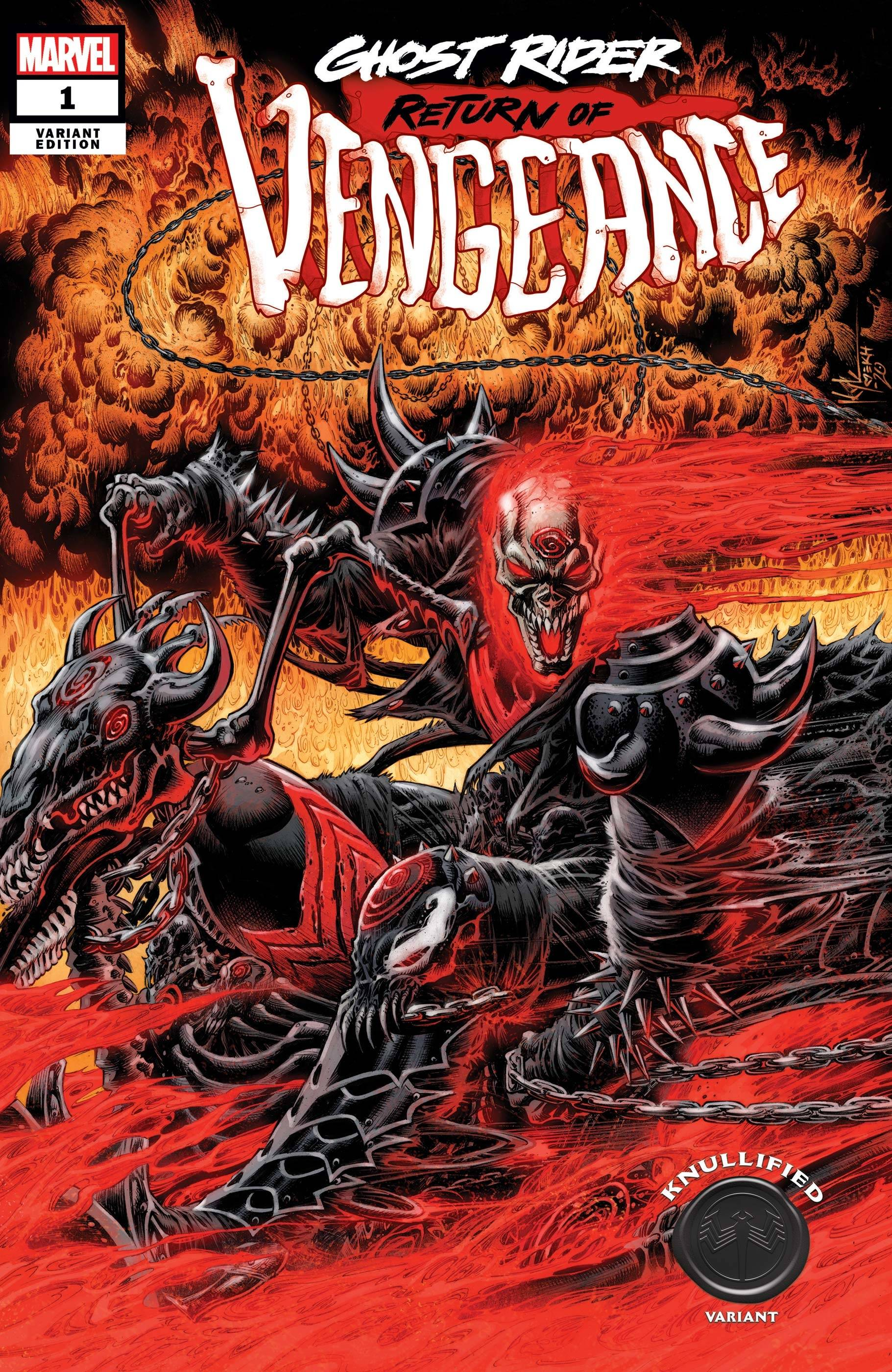 GHOST RIDER RETURN OF VENGEANCE #1 HOTZ KNULLIFIED VAR