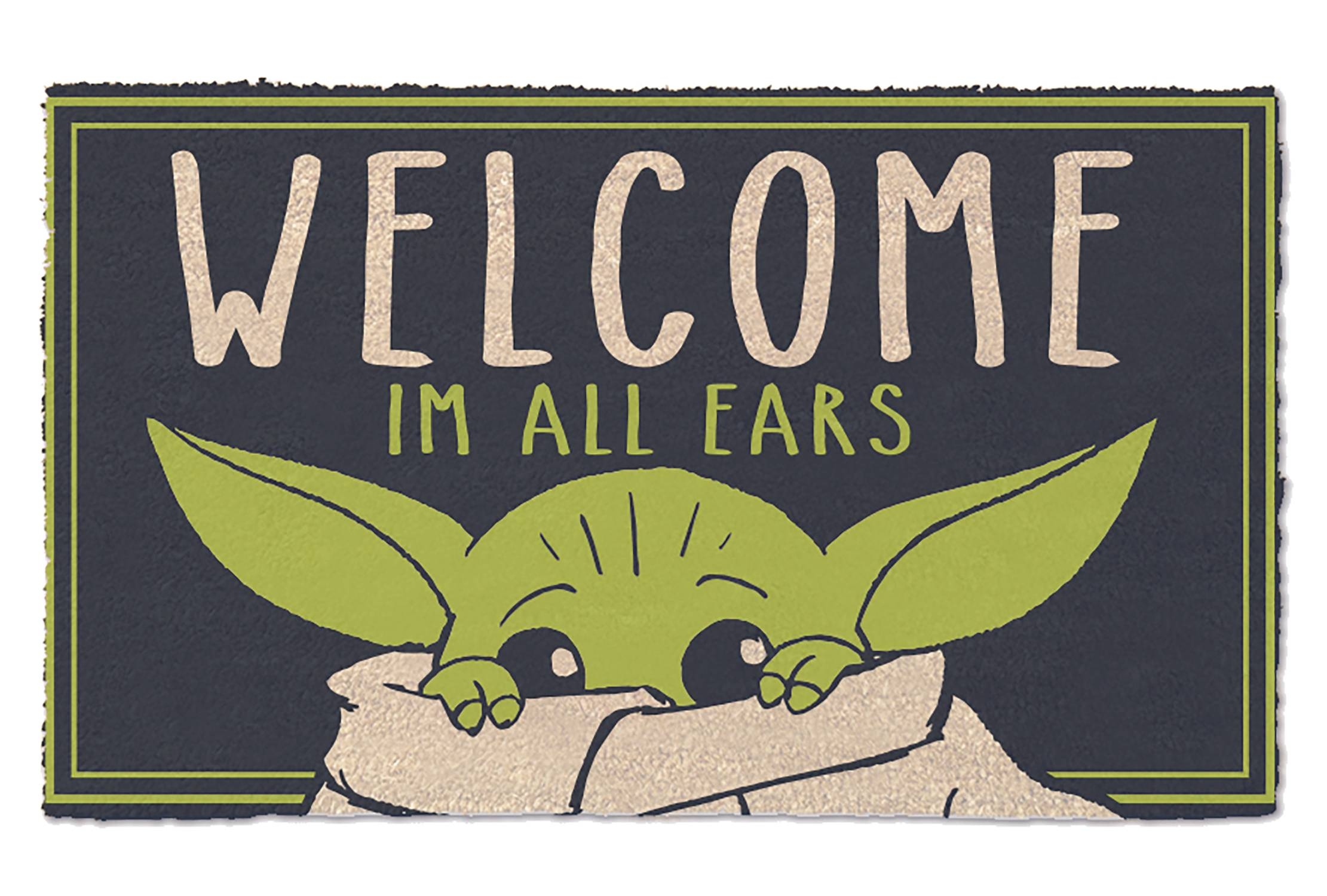 STAR WARS THE MANDALORIAN IM ALL EARS DOORMAT