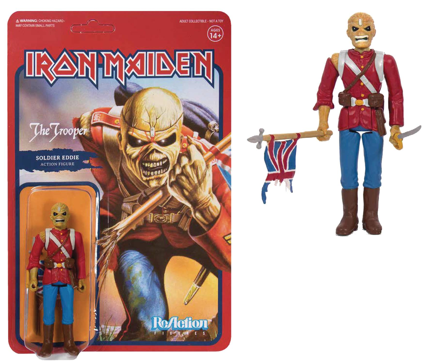 IRON MAIDEN TROOPER SOLDIER EDDIE REACTION FIGURE