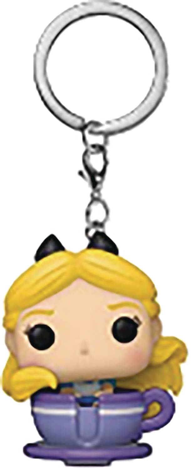 POCKET DISNEY 65TH ALICE IN TEACUP FIG KEYCHAIN