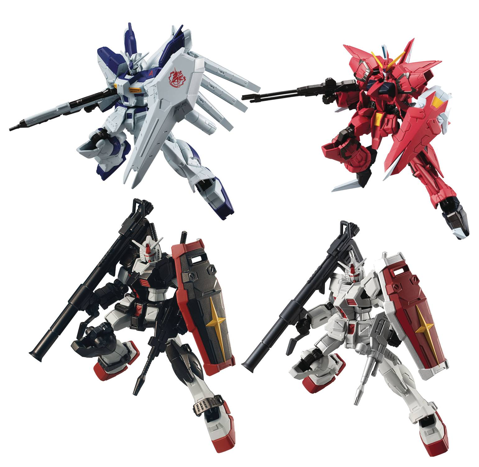 GUNDAM G FRAME MOBILE SUIT GUNDAM V12 5PC BMB DS