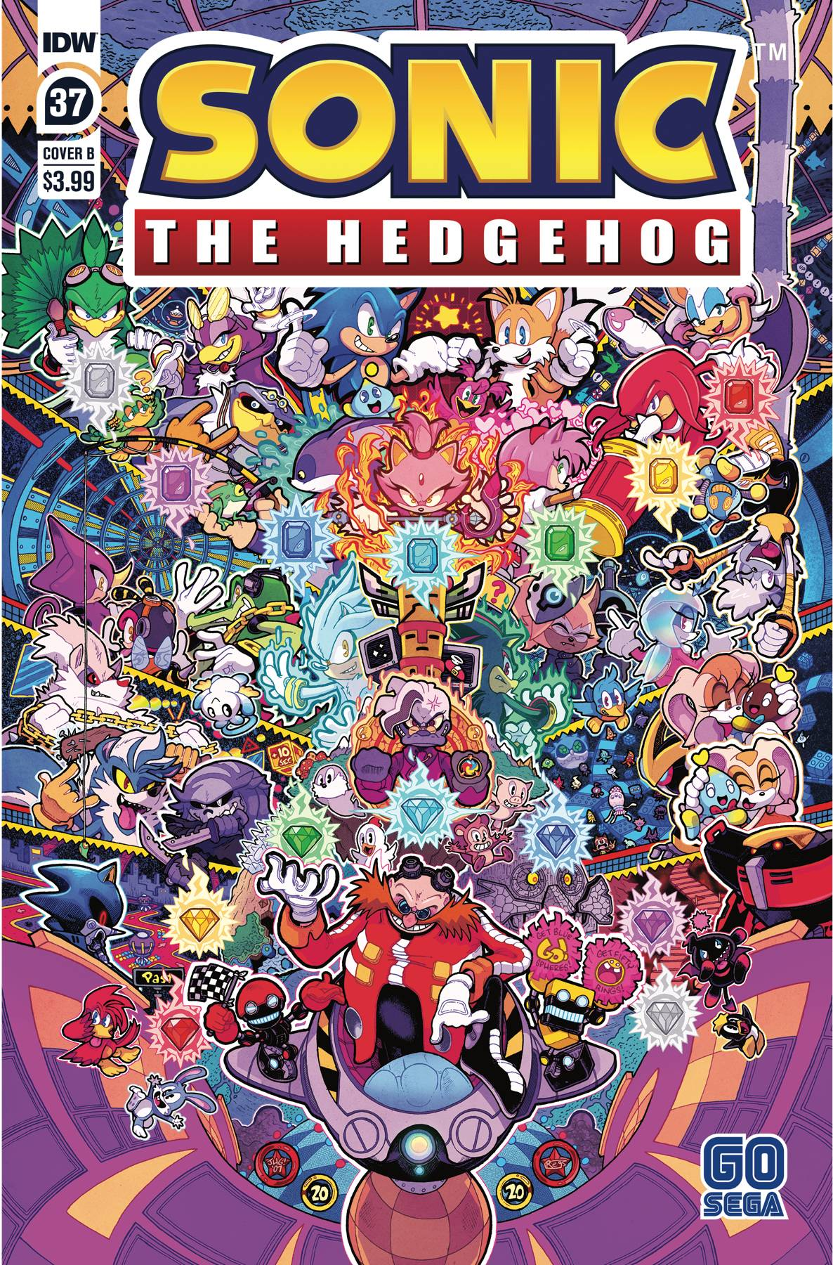 SONIC THE HEDGEHOG #37 CVR B JON GRAY