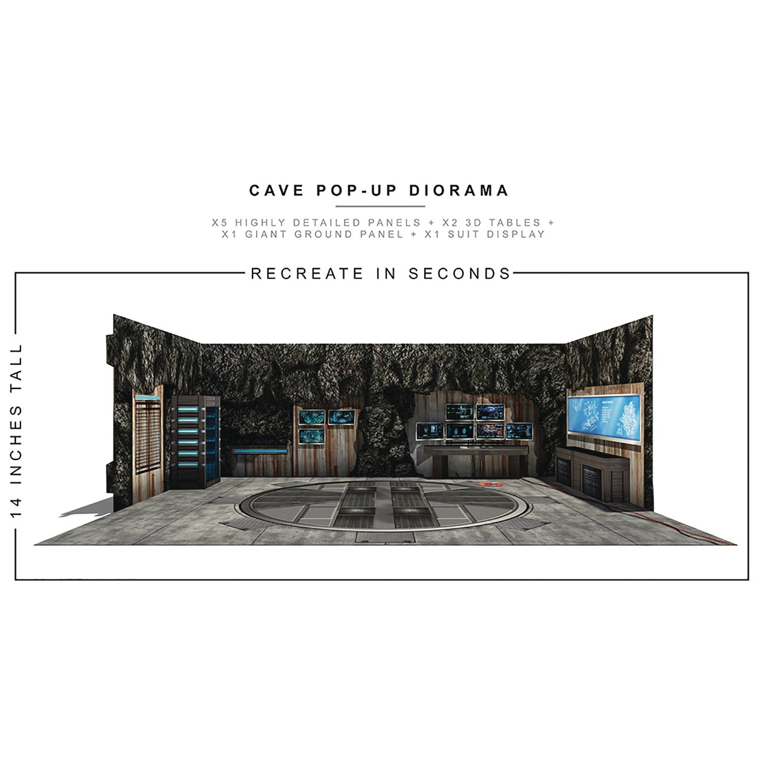 EXTREME SETS CAVE POP UP 1/12 SCALE DIORAMA
