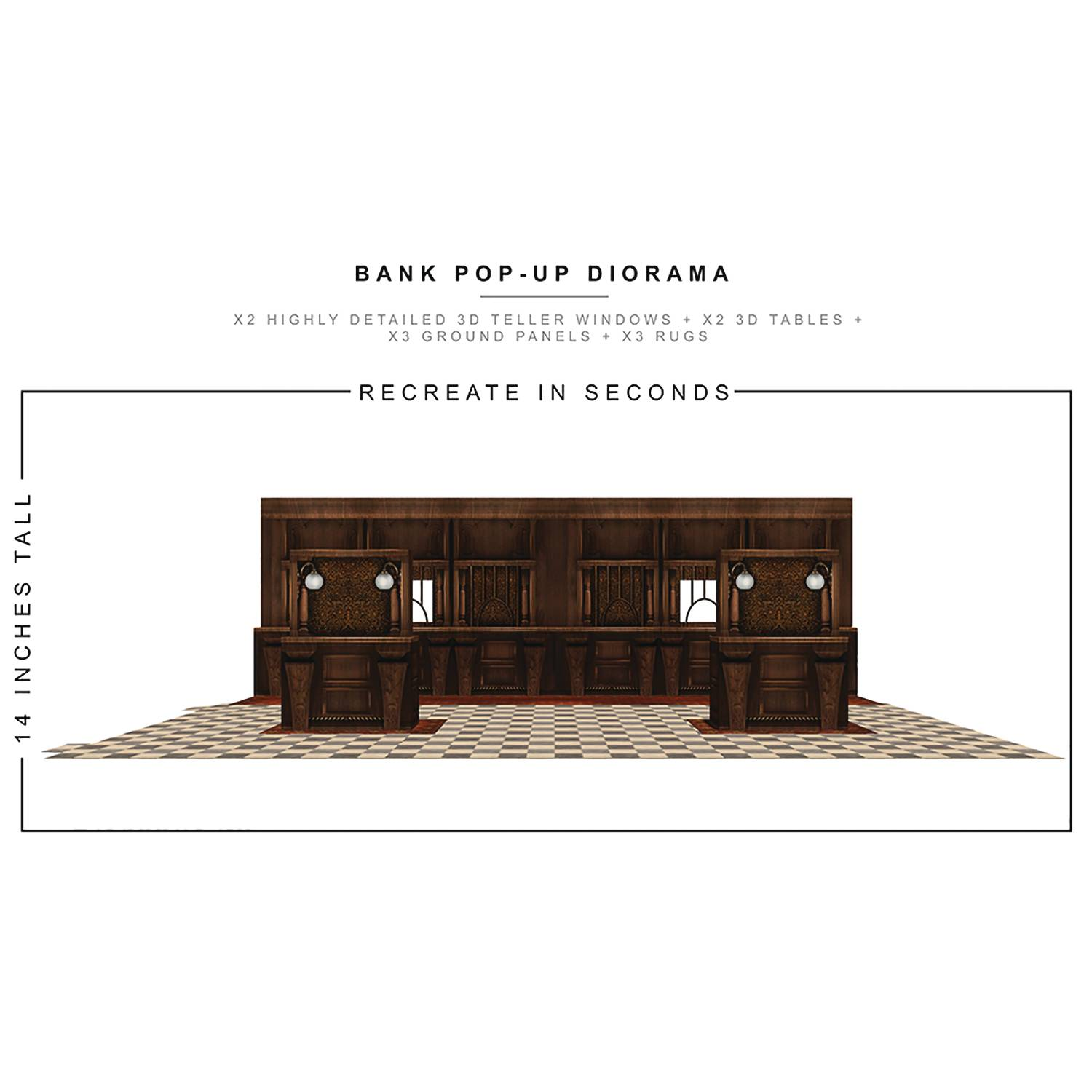 EXTREME SETS BANK POP UP 1/12 SCALE DIORAMA