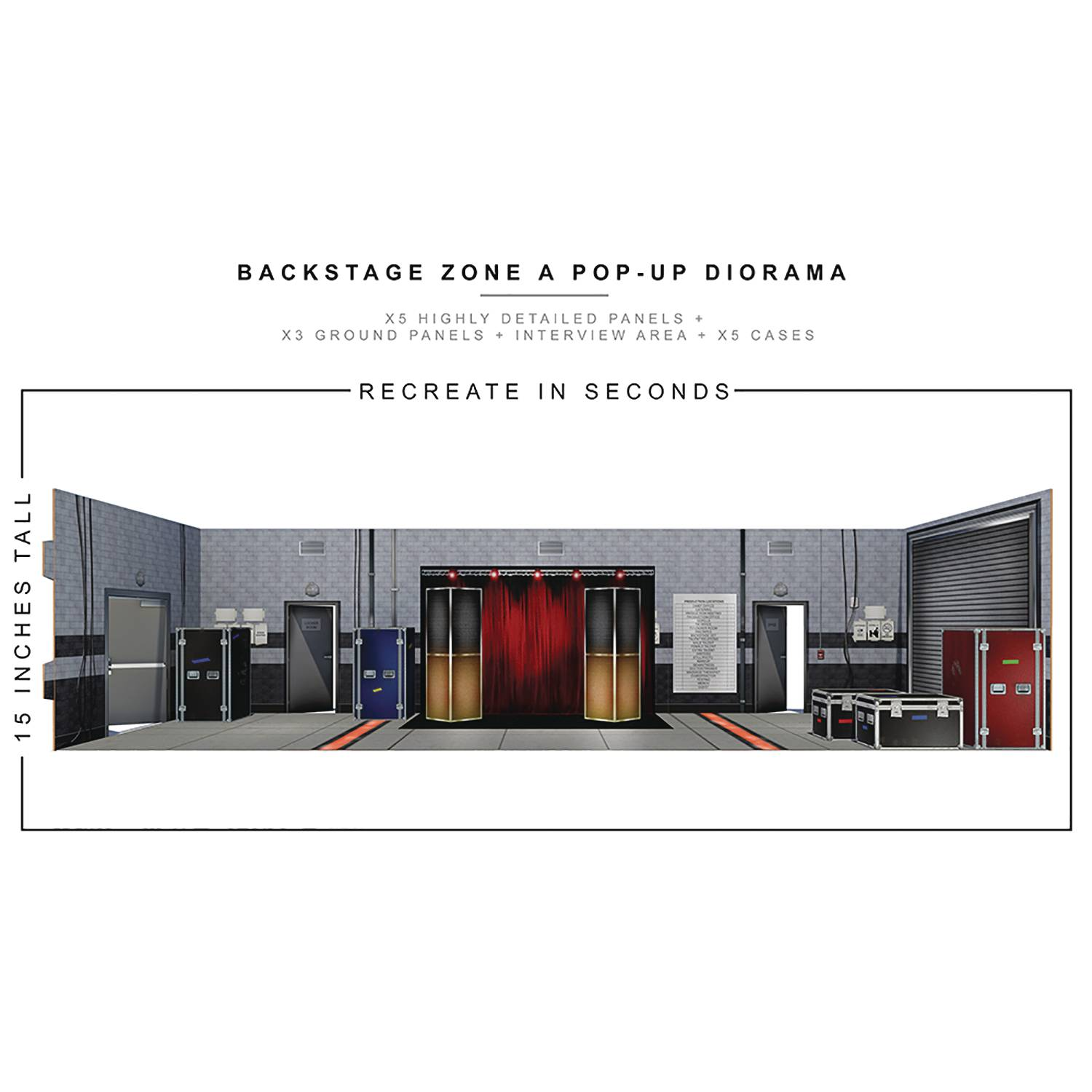 EXTREME SETS BACKSTAGE ZONE POP UP 1/12 SCALE DIORAMA