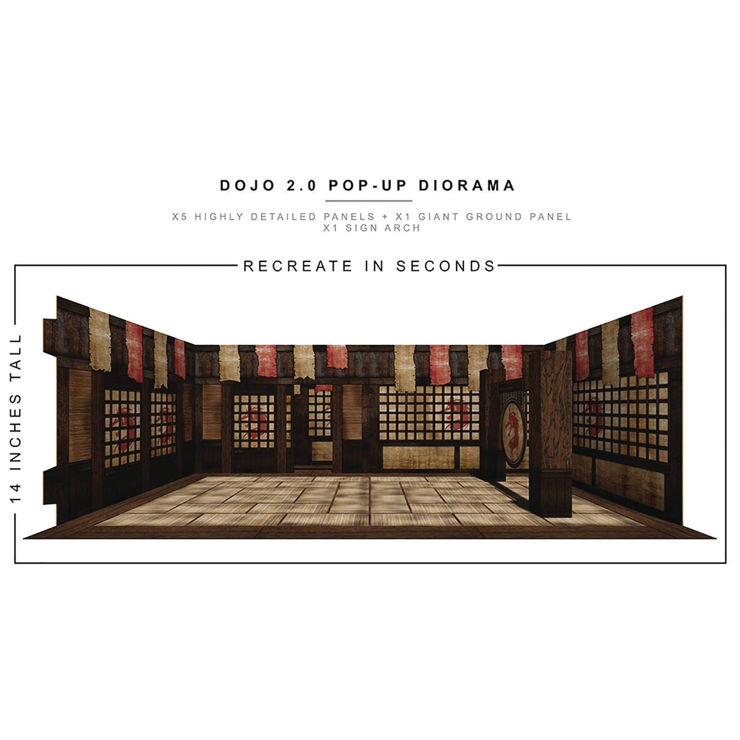 EXTREME SETS DOJO 2 POP UP 1/12 SCALE DIORAMA