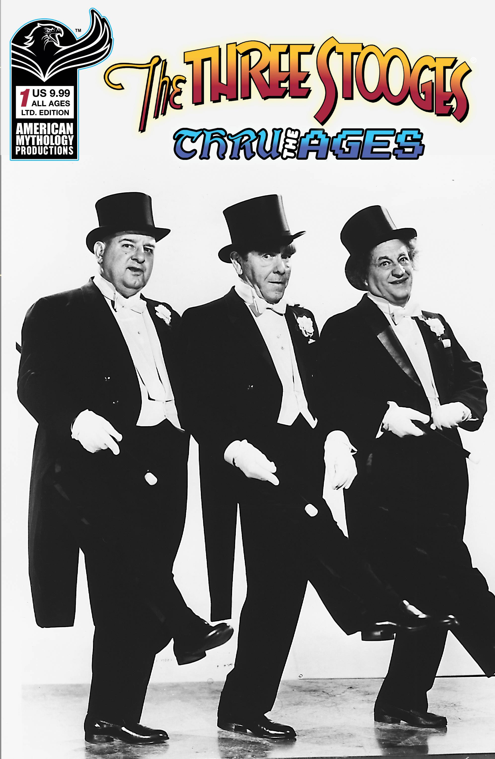 THREE STOOGES THROUGH THE AGES #1 CVR C LTD B&W PHOTO