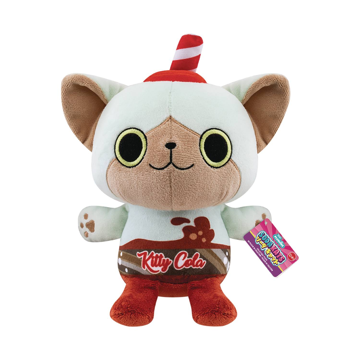 POP PAKA PAKA SODA KAT KITTY COLA 7IN PLUSH