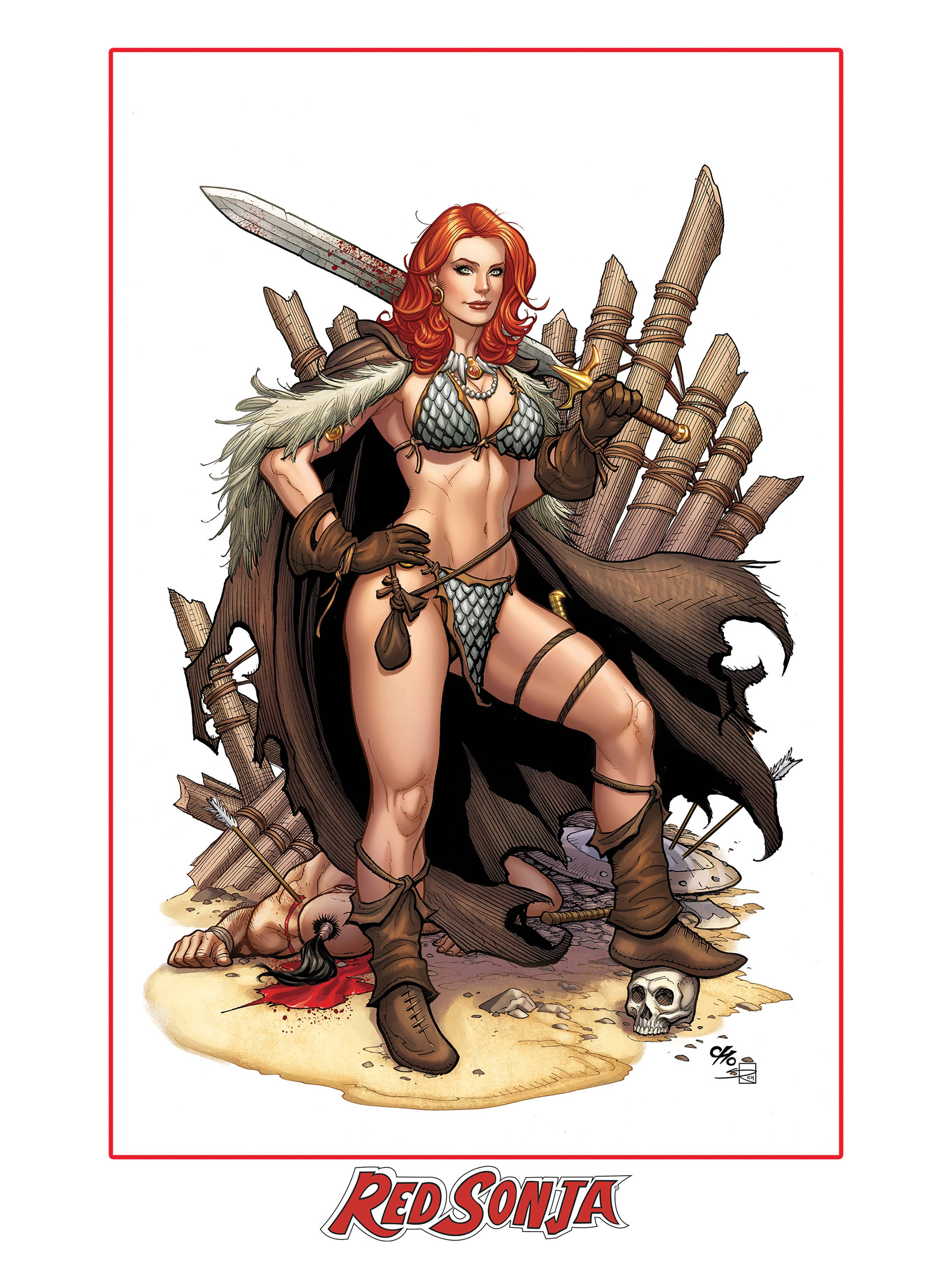 RED SONJA #13 FRANK CHO LTD ED LITHO