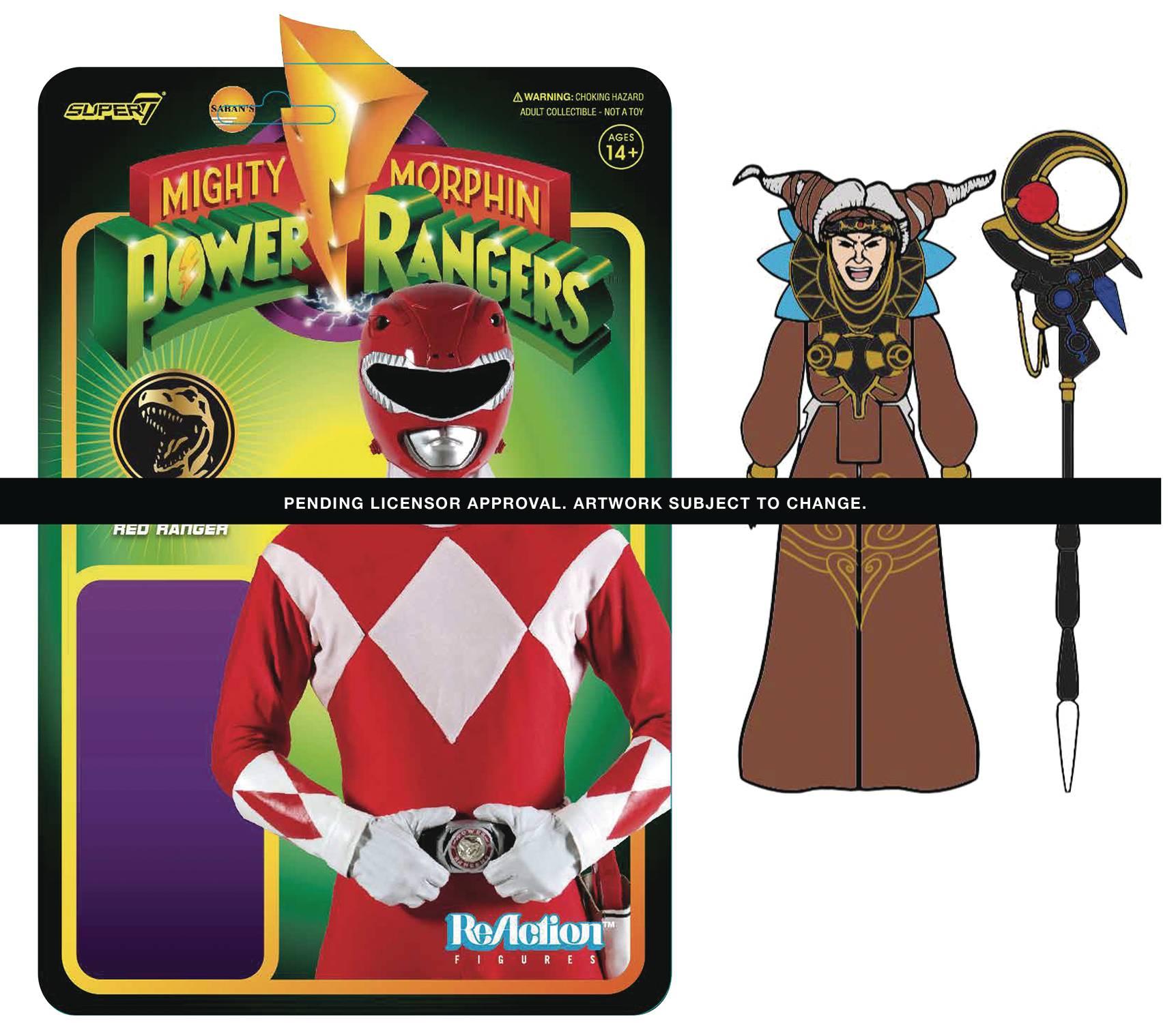 MIGHTY MORPHIN POWER RANGERS RITA REPULSA REACTION FIGURE (N