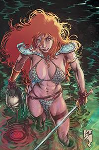 RED SONJA #21 11 COPY CONRAD VIRGIN FOC INCV
