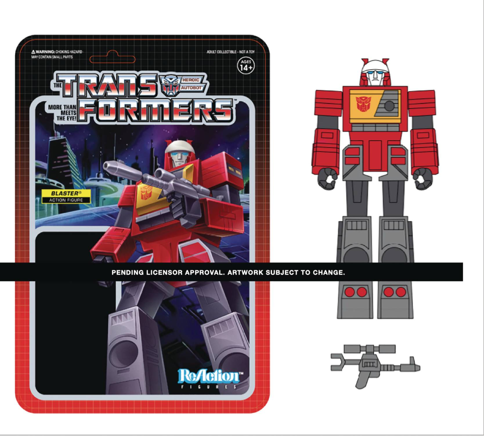 TRANSFORMERS BLASTER W3 REACTION FIGURE  (SEP208186) (C