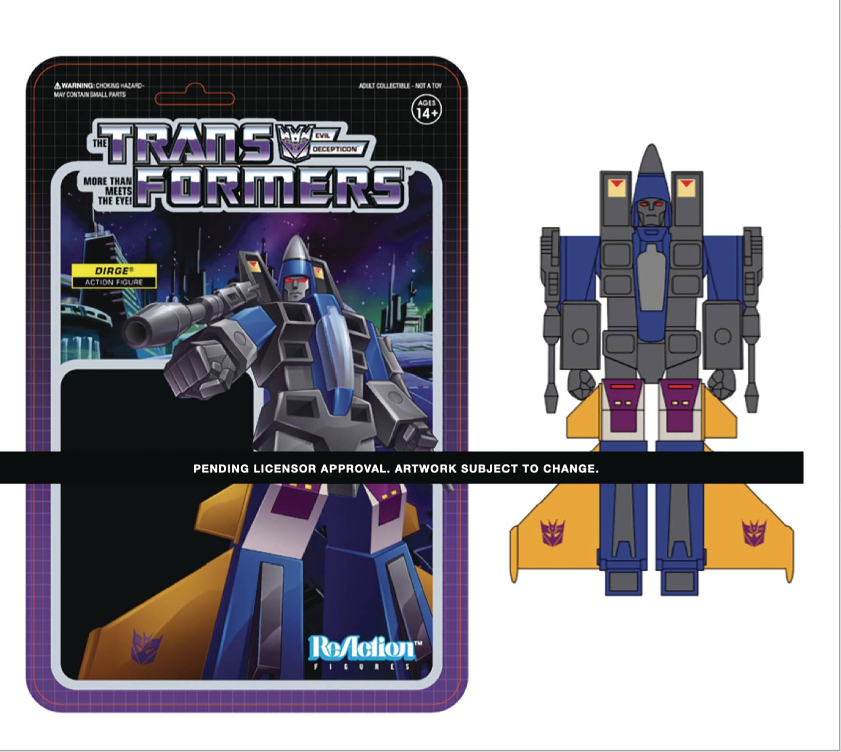 TRANSFORMERS DIRGE W3 REACTION FIGURE  (SEP208198)