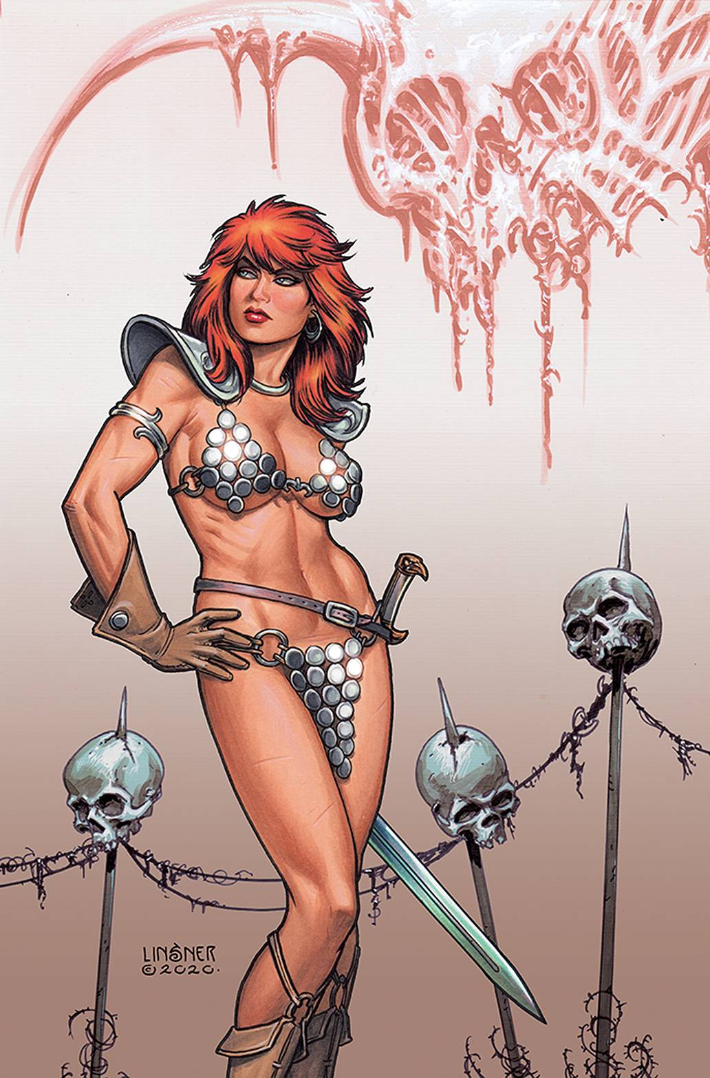 RED SONJA PRICE OF BLOOD #3 LINSNER LTD VIRGIN CVR