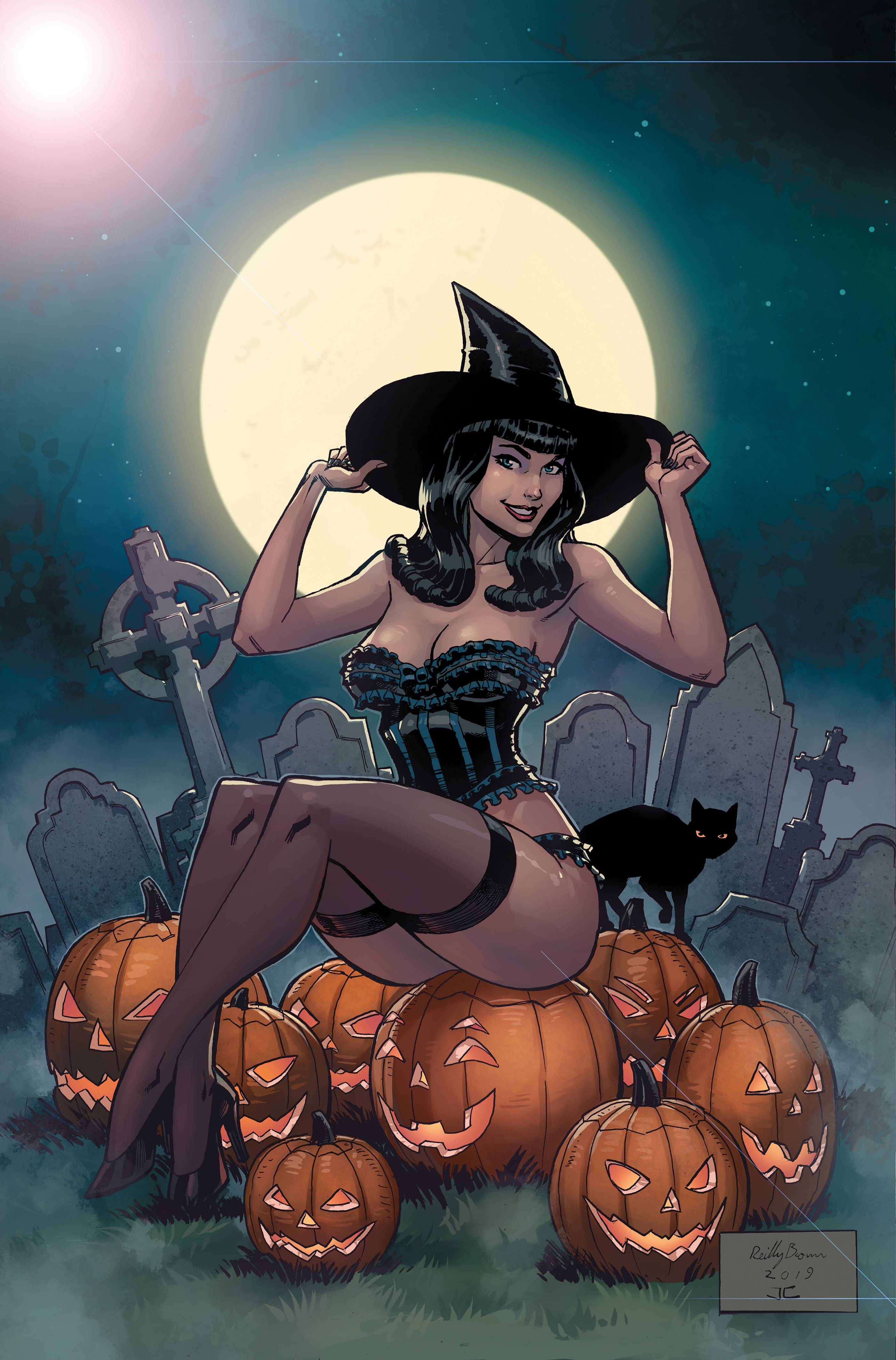 BETTIE PAGE HALLOWEEN SP LTD METAL CVR